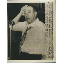 1946 Press Photo RJ Thomas President UAW United Auto Workers Union Election