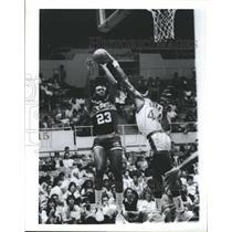 1986 Press Photo Wayman Tisdale Indiana Pacers  - RSH31327