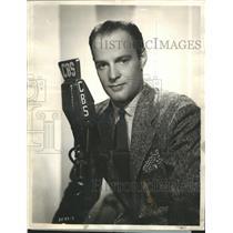 1938 Press Photo Al Garr heard over WABC-Columbia Network
