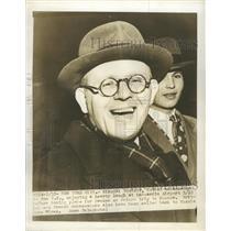 1945 Press Photo Soviet ambassador to the U.S. Nikolai Novikov in LaGuardia