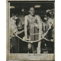Press Photo Skylab astronaut Jack Lousma Jerry Homock and Dr. John Rummel