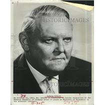 1964 Press Photo Ludwig  Erhard Chancellor of the Republic Germany