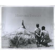 1964 Press Photo Chimney Rock Bayard Nebraska Oregon Trail - RSH93409
