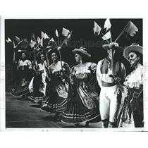 1974 Press Photo Company Of Mexican Dancers Fiesta Folklorico Bayfront Center