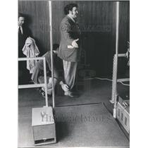 1972 Press Photo Sky Marshall Body Checks Passenger - RRU80633