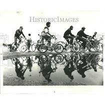 1979 Press Photo Bicycles Race Old Bandshell Area  Gran