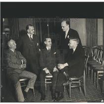 1931 Press Photo Aircraft Officials Harbert Ponting