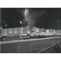 1961 Press Photo Fireworks Over McCormick Place