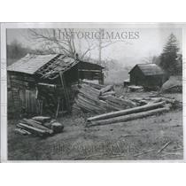 1934 Press Photo Birthplace of Author William Holmes McGuffey, Henry Ford will restore