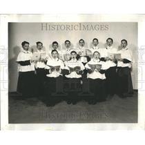 1941 Press Photo Choir