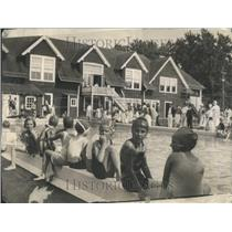 1928 Press Photo Lake Forest Winter Club Pool Swimming - RRR96521