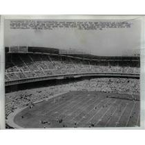 1961 Press Photo Crowd Watches First Game at D. C. Stadium