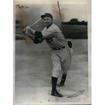 1936 Press Photo Woodley Abernathy, Philadelphia Phillies