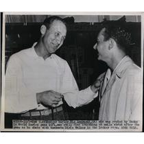 1947 Press Photo Dodger Pitcher Vic Lomardi