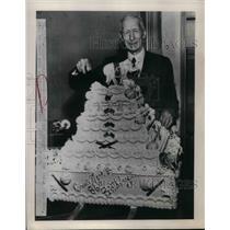 1948 Press Photo Veteran PA.Athletics Mgr. Connie Mack at his 86th Birthday,