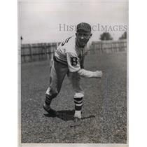 1934 Press Photo Lucas, Brooklyn Dodgers pitcher at training camp