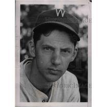 1938 Press Photo Joe Kuhel 1st Baseman Washington Senators - nea02249
