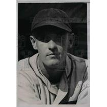 1935 Press Photo George Tuck Stainback Outfielder Chicago Cubs Baseball Team