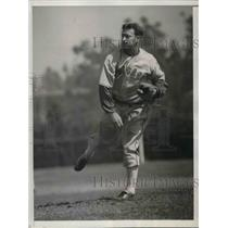1936 Press Photo John Salveson,Chicago White Sox pitcher at Spring Training Camp