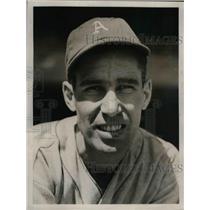 1938 Press Photo Dick Siebert First Baseman Philadelphia Athletics A's MLB Team