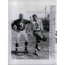 1966 Press Photo Football's place-kicking Brothers Pete and Charlie Gogola.