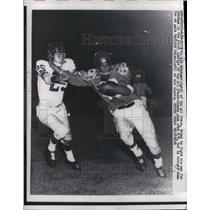 1957 Press Photo Abe Woodson of All Stars & Giants Dick Nolan