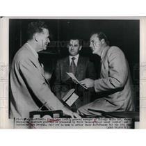 1951 Press Photo Frank Lane, Floyd Baker, Gus Zernial, Chicago White Sox