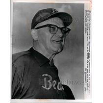 1966 Press Photo George Halas, owner & coach of Chicago Bears, at training camp