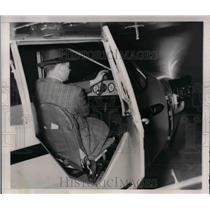 1941 Press Photo Piper Plane A37 Cranking the Engine - nea24469