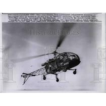 1958 Press Photo French-designed jet-powered Alouette II helicopter