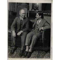 1926 Press Photo Managers Dan Howley/S.Bucky Harris Meet Congress Hotel, Chicago
