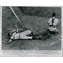 1950 Press Photo Alvin Dark, New York Giants, Dixie Howell, Cincinnati Reds