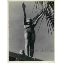 1937 Press Photo Mary Hoerger in Diving Position.