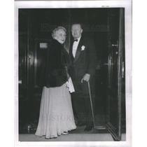 1963 Press Photo Count Giulio Bolognesi Italian Consul with Wife at Casino