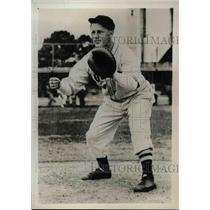 1937 Press Photo Gene Desautles Catcher Boston Red Sox MLB Baseball Player