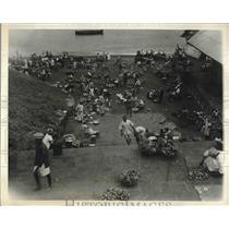 1933 Press Photo Natives Market in Freetown, Sierra Leone in West Africa
