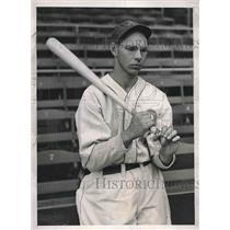 1937 Press Photo Peters 3rd Baseman Philadelphia Althletics