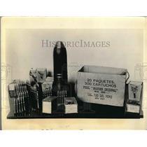 1933 Press Photo Peruvian Ammunition Captured By Columbian Troops - nea52227