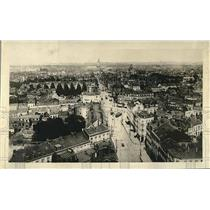 1918 WWI Press Photo Bird's Eye View of the City or Lille During World War I