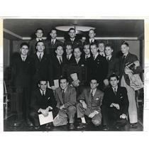 1942 Press Photo aviation students from foreign countries in U.S. for training