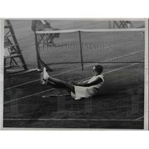 1934 Press Photo Baronis Maude Levi at Forest Hills Natl tennis
