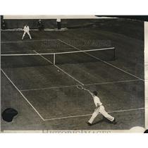 1929 Press Photo Bill Tilden, Donald Strachan, All-Comers Tournament