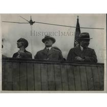 1927 Press Photo General Pershing, Marshal Petain, Howard Savage, P. Painleve