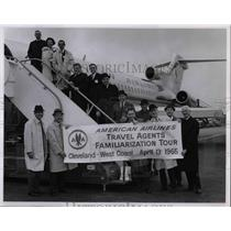 1965 Press Photo American Airlines Travel agents & a plane - nea70345