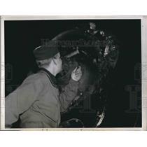 1947 Press Photo Robert C Johnson Fairfield Army Air Base Plane Pilot
