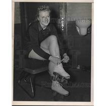 1941 Press Photo Harriet Nielson.1941 Cleveland Roller  Skating Champion.
