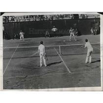 1934 Press Photo Wilmer Allison, Laird Watt vs. Lester Stoefen, Bitsy Grant