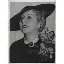 1938 Press Photo Mrs Edwin Mubicy Wife of Missing Pilot - nea93644