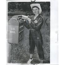 1956 Press Photo Girl Scouts Judy McVey