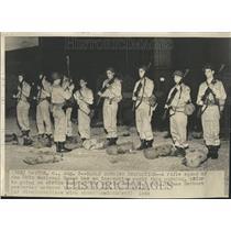 1948 Press Photo Ohio National Guard Rifle Squad - RRT28041
